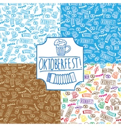 Pattern oktoberfest set vector