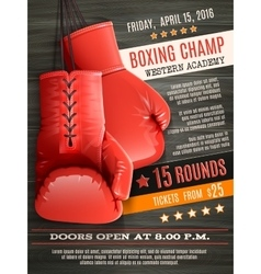 Gloves boxing poster vector