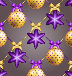 New year pattern with ball christmas wallpaper vector