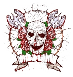 Xmass tattoo skull vector
