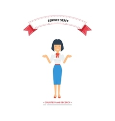 Service staff woman design flat vector