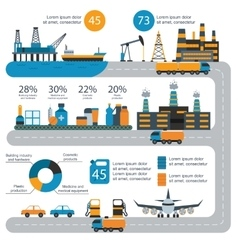 World oil gas production infographic distribution vector
