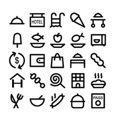 Hotel and restaurant icons 3 vector