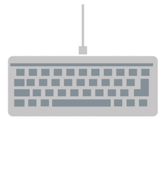 Simple keyboard icon vector