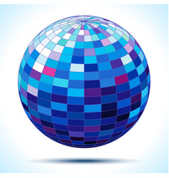 abstract 3d blue sphere vector image