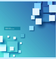 Abstract blue background with 3d squares effect vector