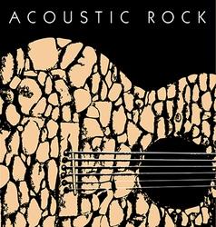 Acoustic rock vector