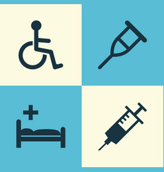 Antibiotic icons set collection of disabled vector