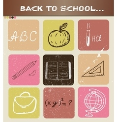 Back to school hand drawn poster vector image vector image