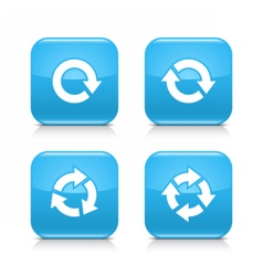 Blue arrow refresh reload rotation repeat icon vector image