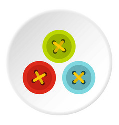 Buttons for sewing icon circle vector