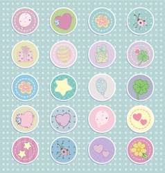 Cartoon Stickers llustration vector image