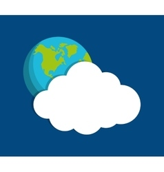 Cloud computing techonlogy vector