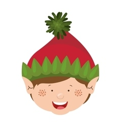 color image of gnome boy head vector image