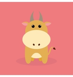 Cute Cartoon Bull vector image