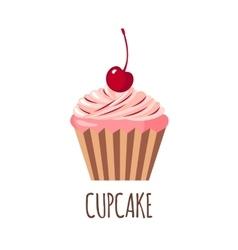 Cute cupcake icon vector