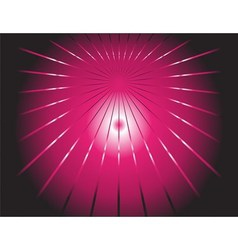 dark background and pink ray vector image vector image