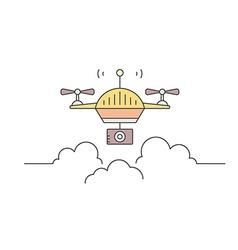 Drone logo concept vector