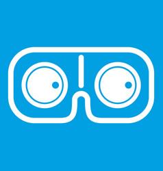 Game glasses icon white vector