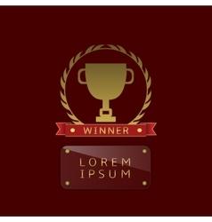 Golden cup winner vector