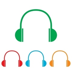 Headphones sign Colorfull set vector image