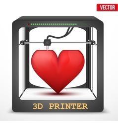 Heart transplant 3D printer for the internal vector image