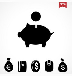 money dollar icon vector image vector image