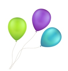 Multicolored colorful balloons isolated vector