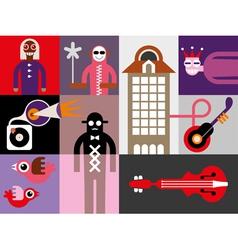 music festival banner vector image vector image