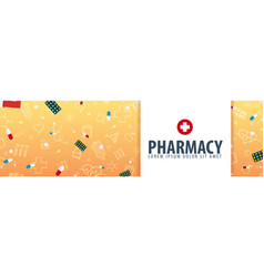 Pharmacy medical banner health care vector