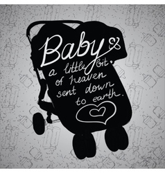Quotes on baby stroller carriage vector image