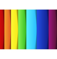 Rainbow lines - new banner template vector