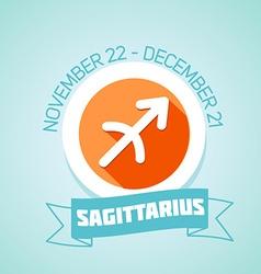 Sagittarius zodiac sign vector image vector image