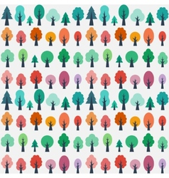 Seamless pattern with flat trees vector image