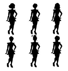 silhouettes of women in different hair vector image