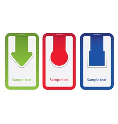 tag label arrow set vector image