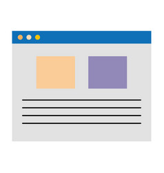 Template web isolated icon vector