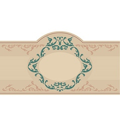 Vintage ornametal label vector image