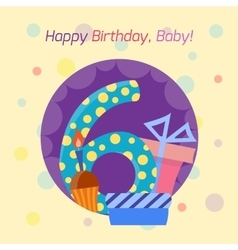 Happy birthday badge icon vector