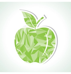 Abstract green triangle apple vector