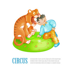 bright of circus performance vector image