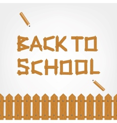 Back to school text made from wooden boards for vector