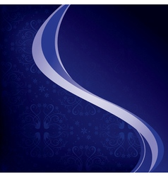 Dark blue background with wavy elements vector