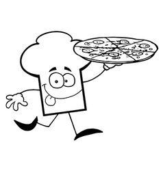 Cartoon chefs hat with food vector image