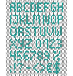Knitted uppercase english alphabet vector