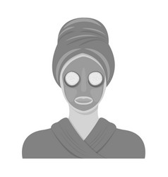 Mask single icon in monochrome stylemask vector