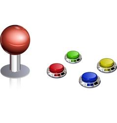 Arcade game control vector image