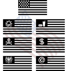 stencils of fantasy usa flags vector image