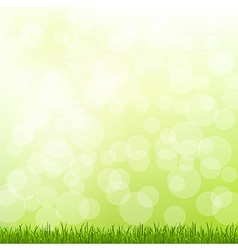 Green grass and bokeh vector