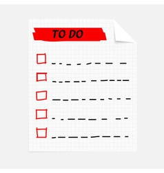 to do note vector image